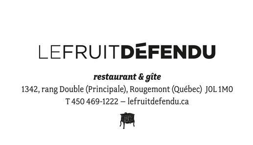 auberge et restaurant le fruit défendu rougement montérégie hébergement